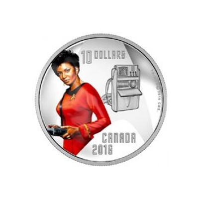 2016 $10 Silver Proof Coin - Communications Officer Nyota Uhura